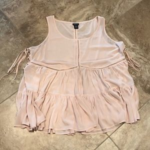 TORRID Pink tank top blouse